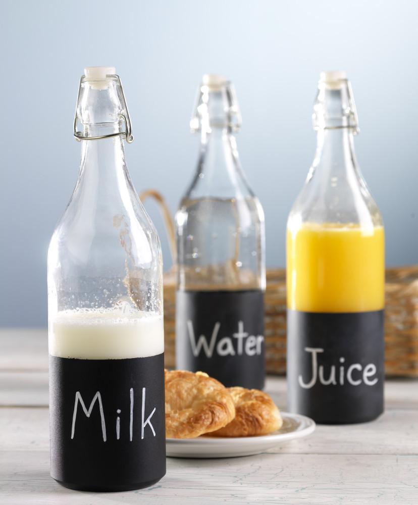 Americana Glass Chalkboard paint juice Jar