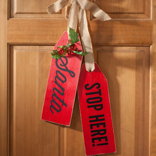 Welcome To Our Home Or Santa Stops Here Wood Tags