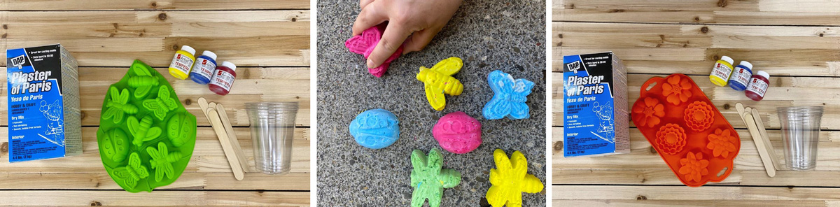 DIY Sidewalk Chalk How To