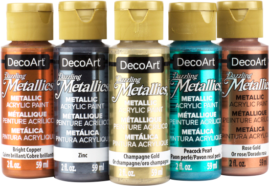 Dazzling Metallic Acrylic Paint By Deco Art Craft Warehouse