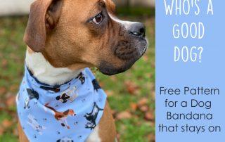 Make a Dog Bandana Free Pattern