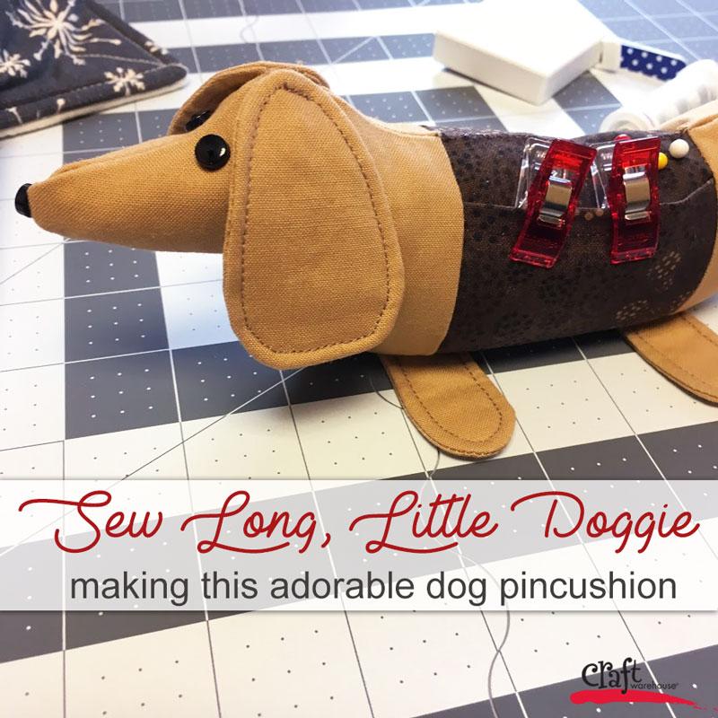 Sew Long Little Doggie Pincushion