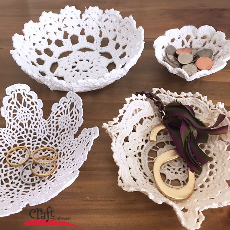 How to Make Doily Bowls from Craft Warehouse