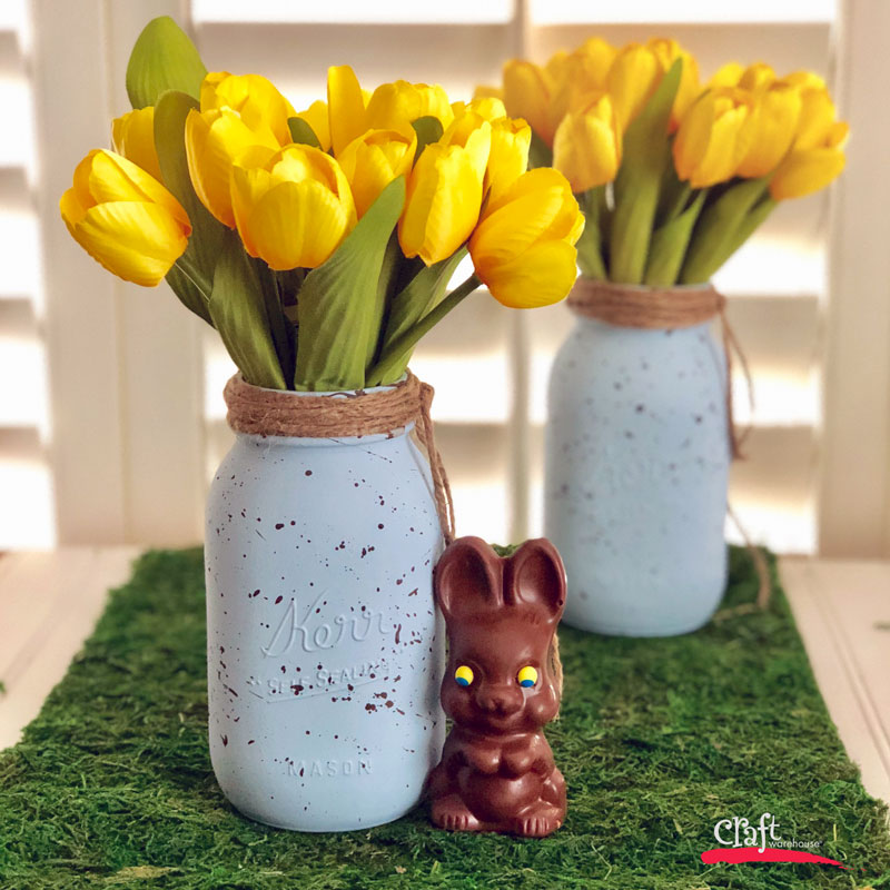 Make a Bird's Egg Mason Jar for Easter