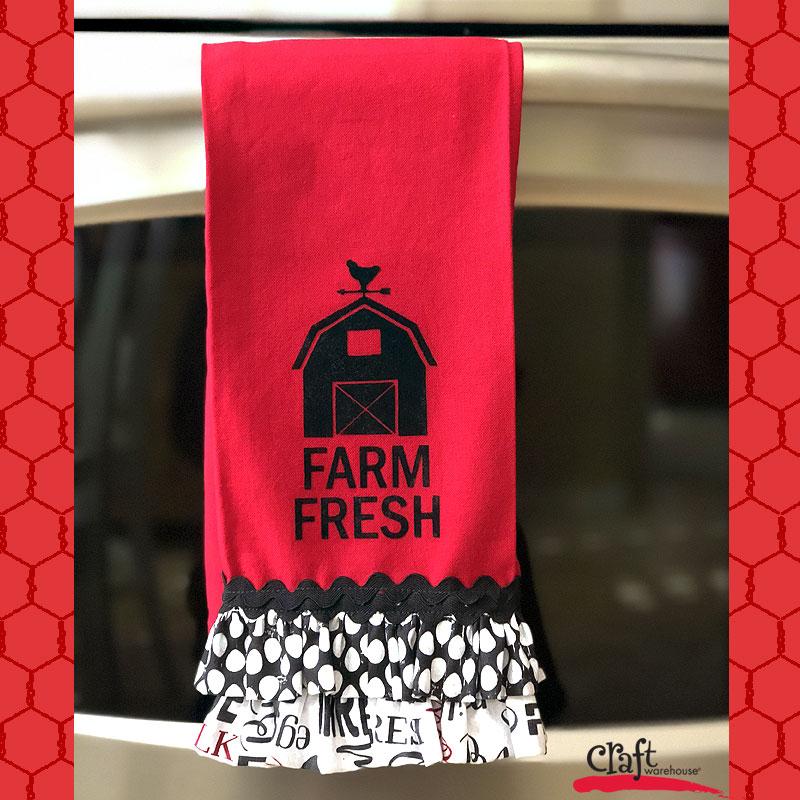 Make this Ruffled Farm House Towel