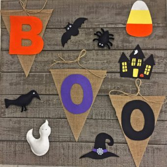 Halloween Felt Banners and Ornaments
