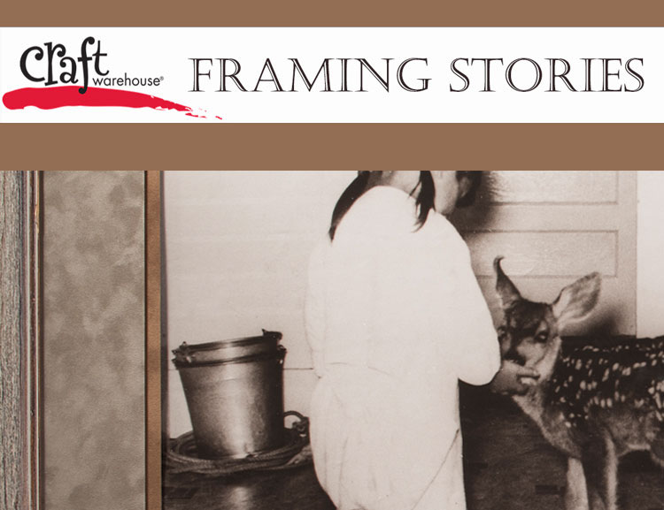 Craft Warehouse carefully custom frames your family treasures