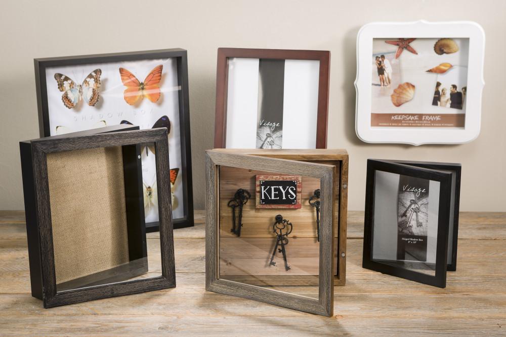 wood hinged shadow box frame