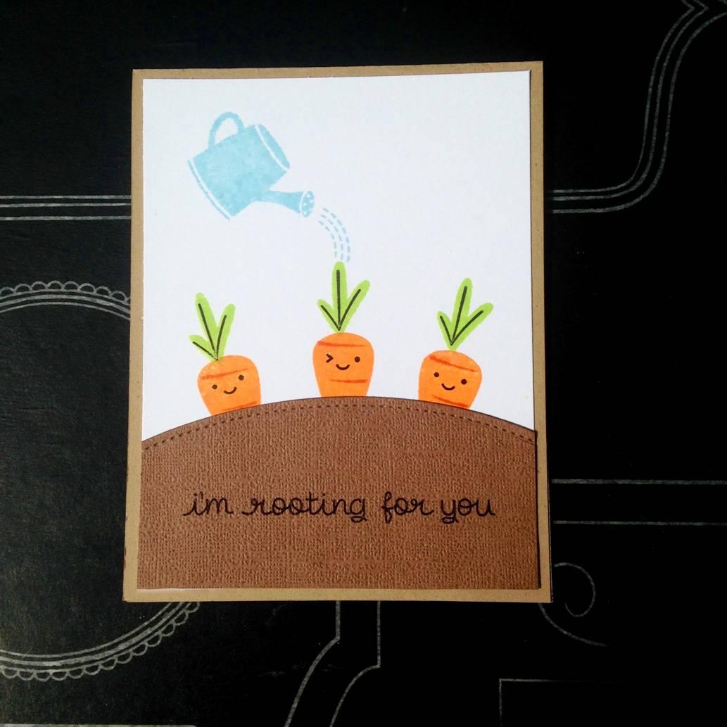 Quot I M Rooting For You Quot Carrot Card Craft Warehouse
