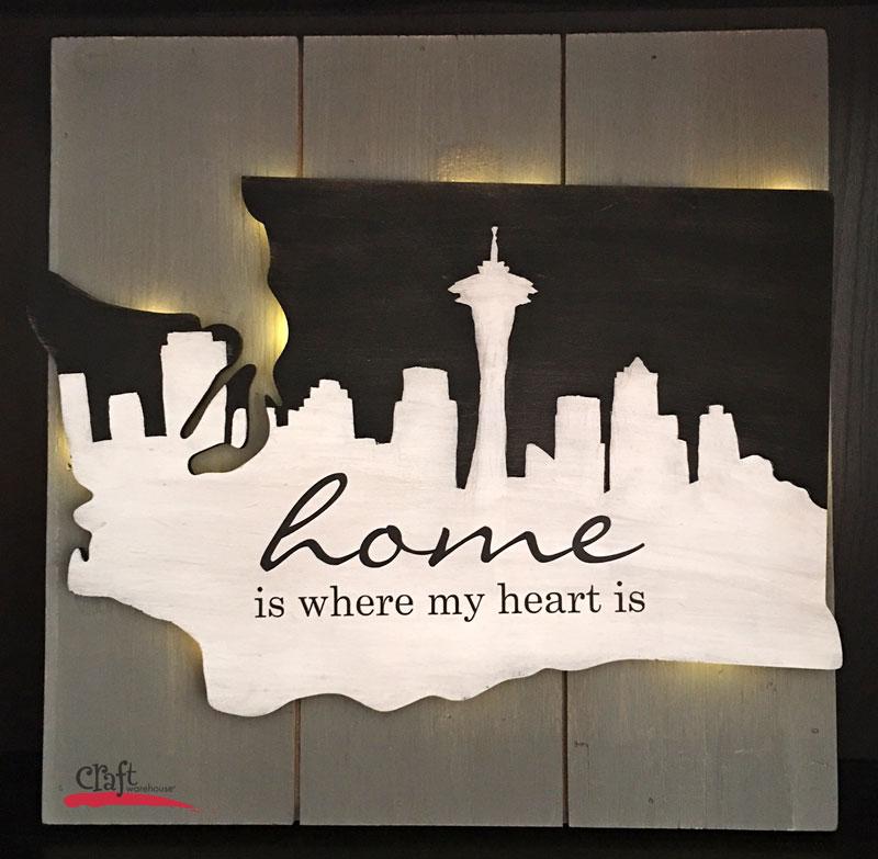 Light Up Seattle Wall Art from Craft Warehouse