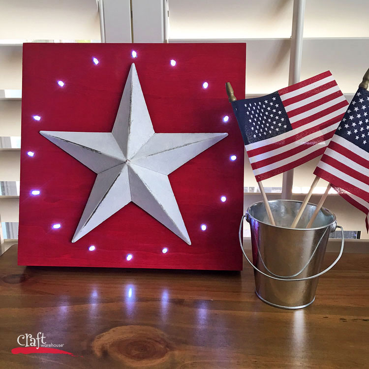 Make This: Rustic Light-up Star Decor • Craft Warehouse