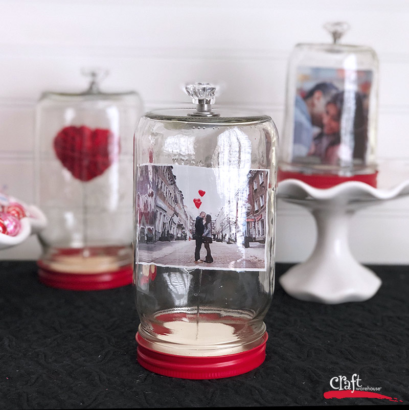 Love under Glass- An Easy Valentines Display