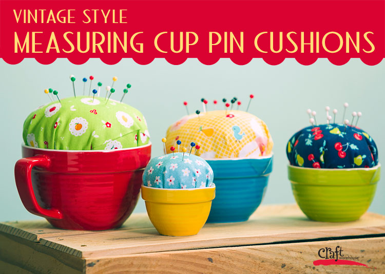 How to Make Pin Cushions from Cute Measuring Cups