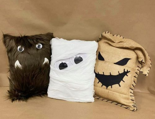 Make this: No Sew Monster Pillows