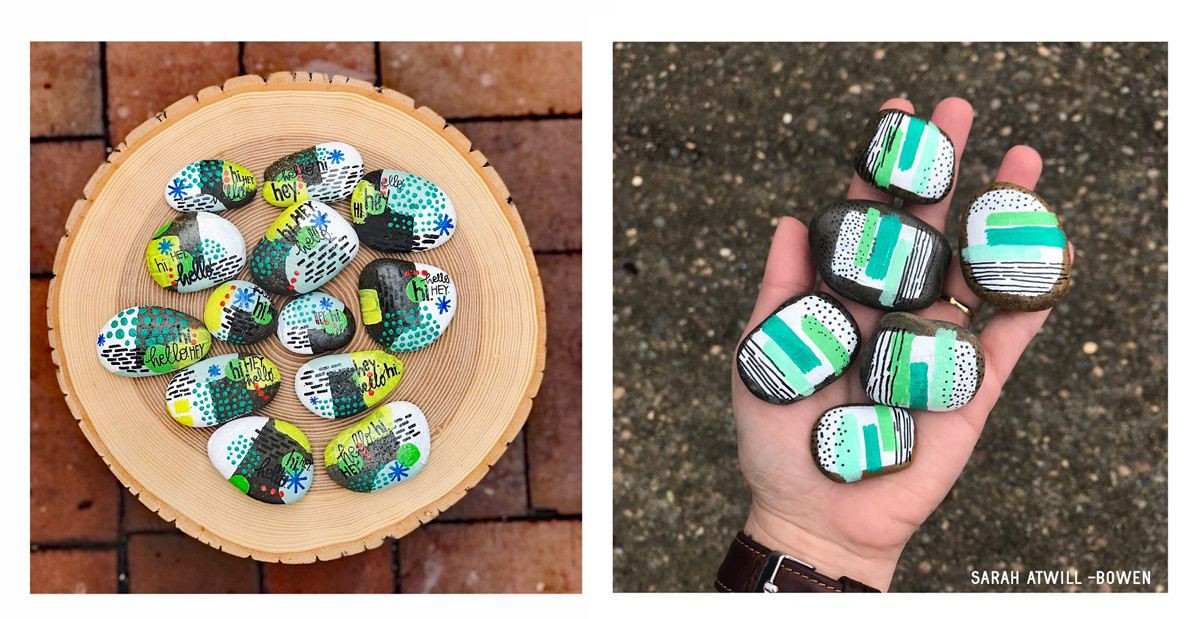 Painted Rocks by Sarah Atwill-Bowen