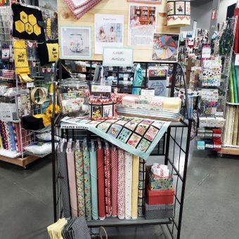 Poppie Cotton display at Hazel Dell Craft Warehouse