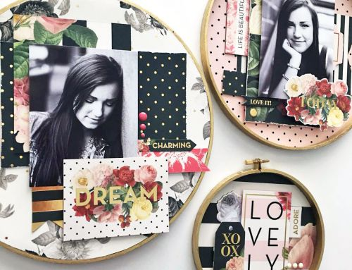 Scrapbooking with Embroidery Hoops