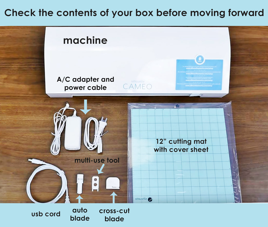contents of silhouette cameo