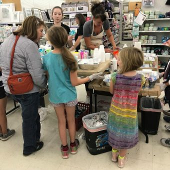Slime making at the Vancouver Craft Warehouse