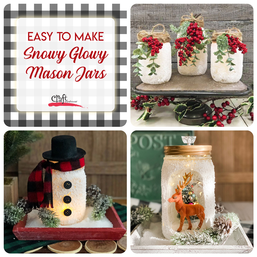 Make this: Snowy Glowy Mason Jar