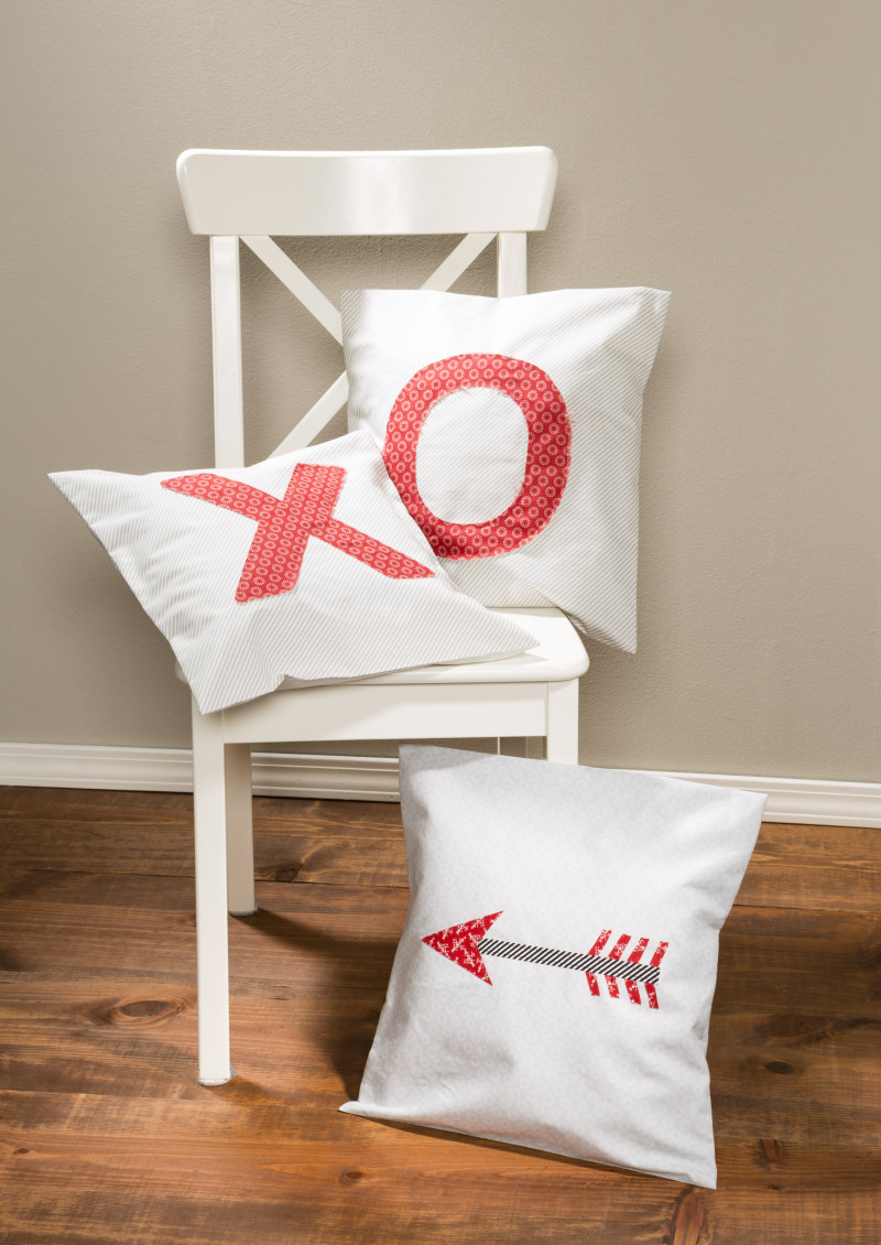 Valentines XO and arrow pillow covers