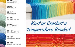 Knit or Crochet a Temperature Blanket - Free Project Guide