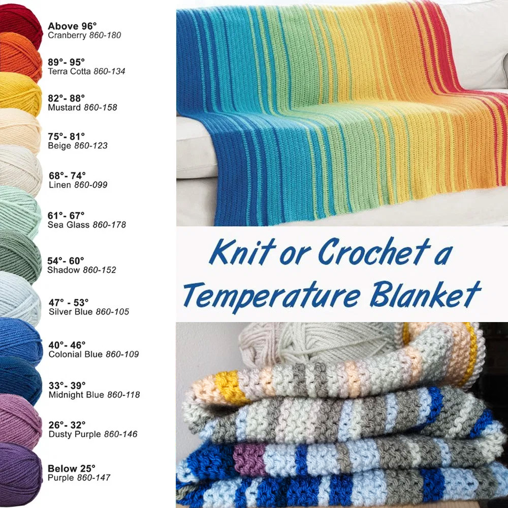 Knit or Crochet a Temperature Blanket