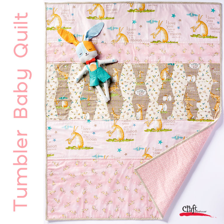 Sew this Tumbler Baby Quilt from Craft Warehouse
