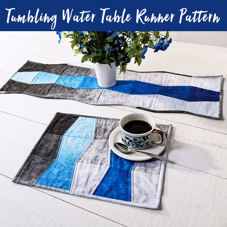 Pattern for making a Tumbling Water Table Runner from Craft Warehouse
