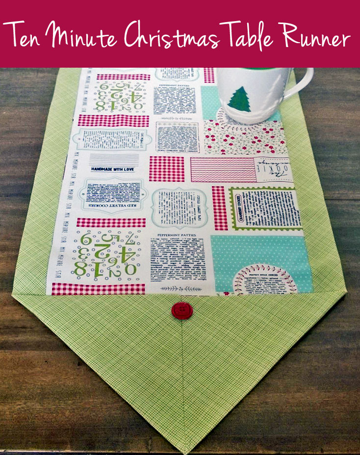 Make this christmas table runner in ten minutes craft for 10 min table runner