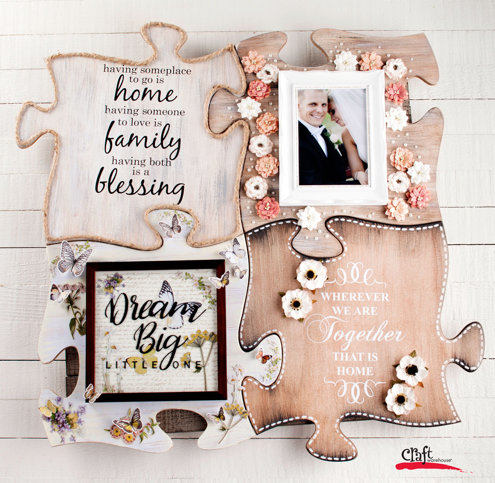 Puzzle Wall Art for a Wedding