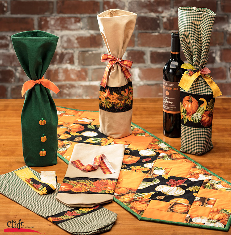 Making Bottle Bags for Wine and Gifts from Craft Warehouse