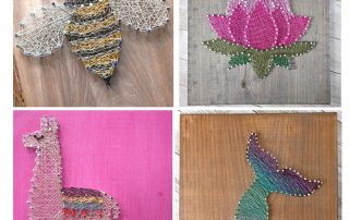 Create String Art with Colorful Wire