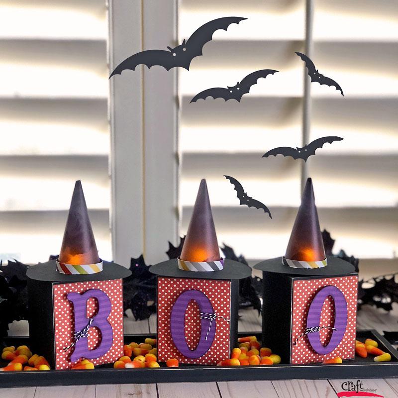 Make this Halloween Craft - Witch Hat Votives