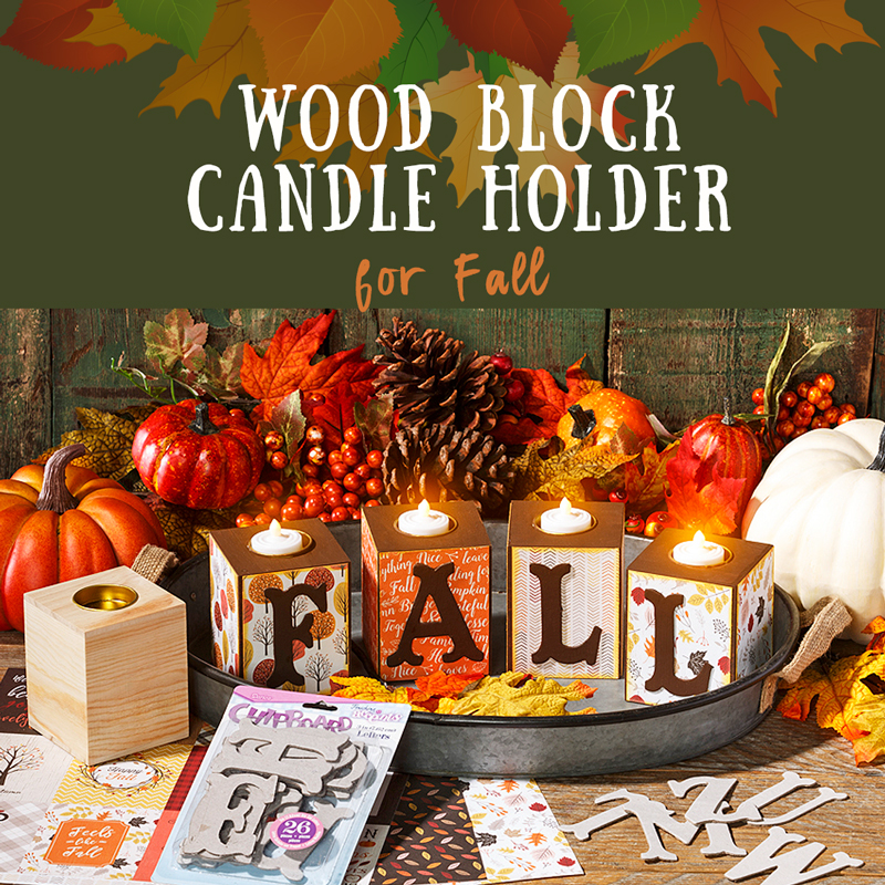 Make these Wood Candle Blocks for an Occasion