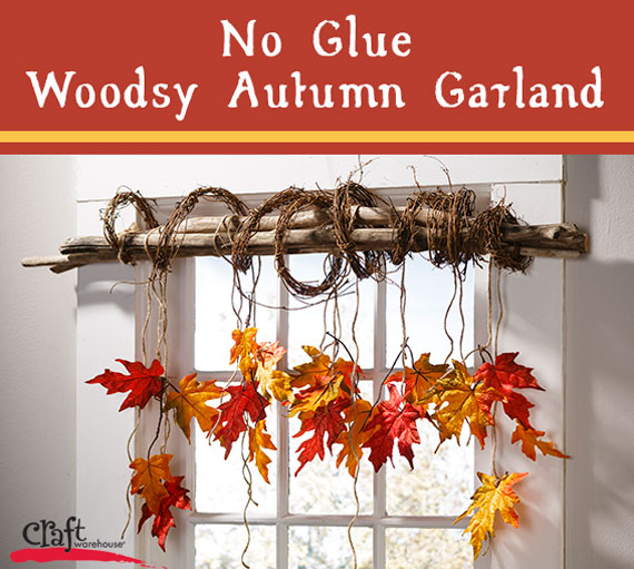 Make this easy wood garland for fall. No glue needed.