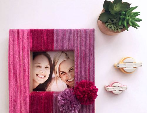 Make this: Yarn Wrapped Frame