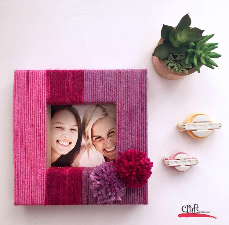 Yarn Wrapped Frame using Candy Shop Yarn